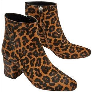 Zara Leopard Print Booties